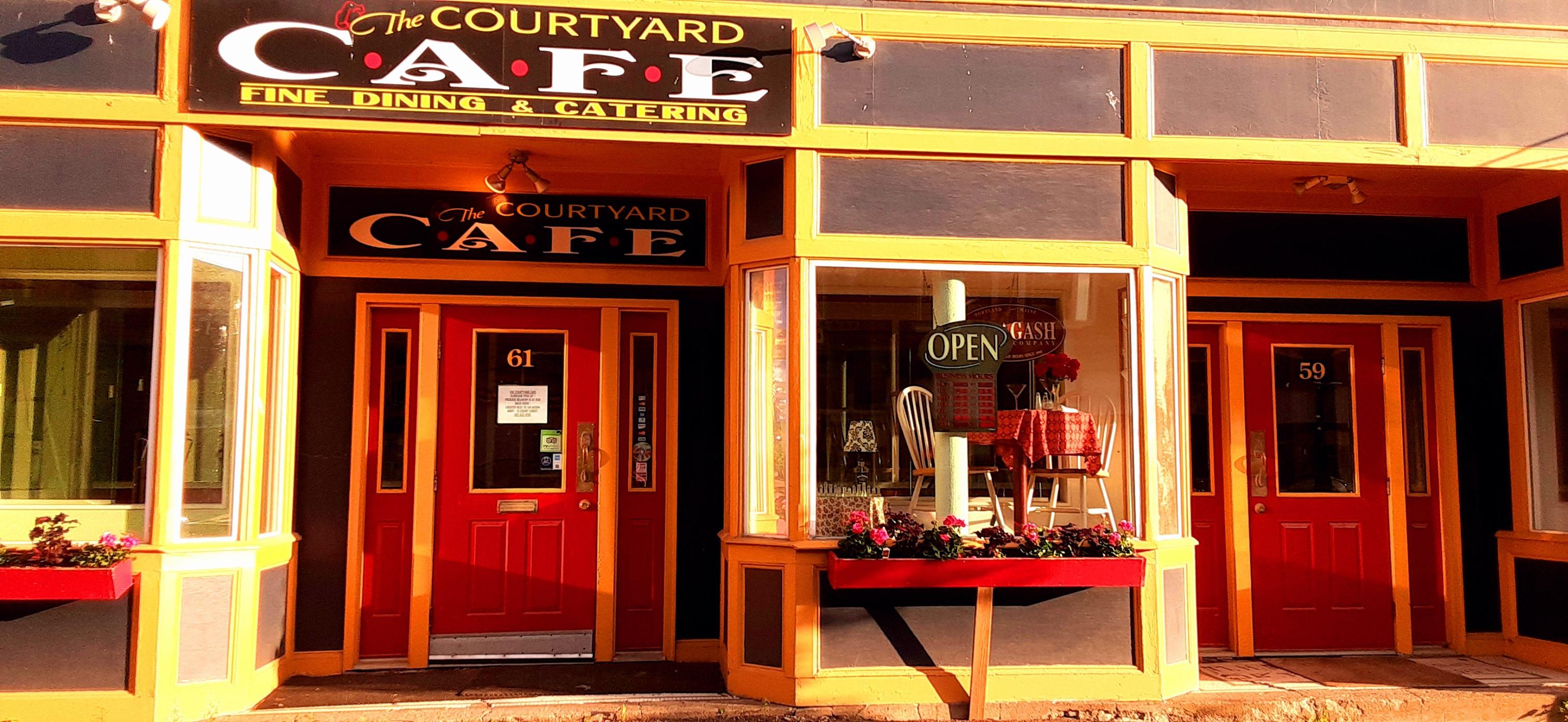 The Courtyard Café building entrance